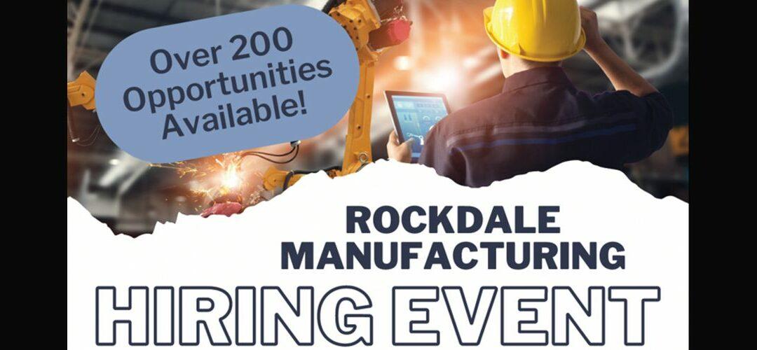 Rockdale Manufacturing Hiring Event